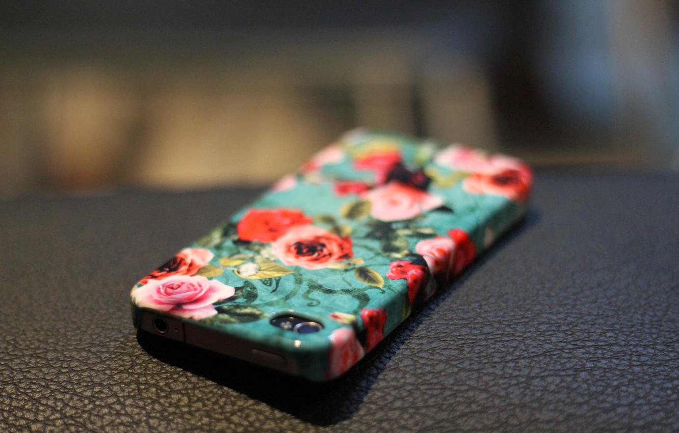 Photo wallpaper flowers, roses, phone, iphone, case, iPhone