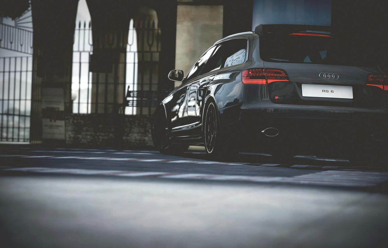 Photo wallpaper Audi, view, RS6