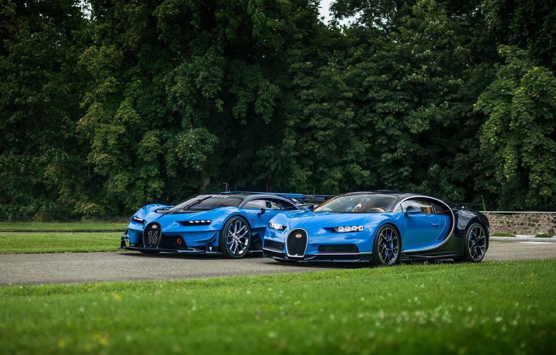 Photo wallpaper lawn, Bugatti, Vision, Gran Turismo, Chiron