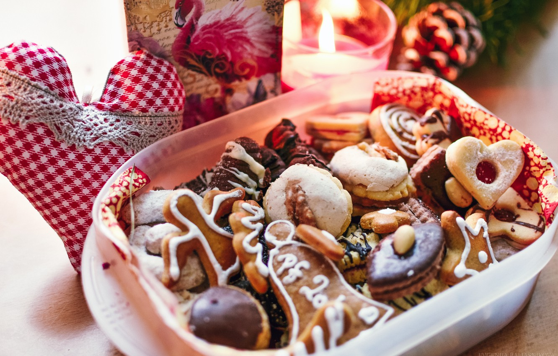 Wallpaper New Year Christmas Cookies Sweets Christmas Sweet