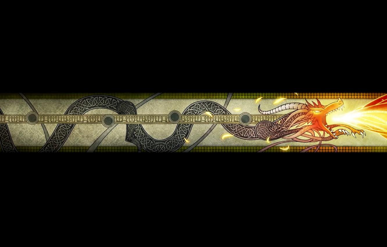 Photo wallpaper Dragon, Flame, Art, Black, Texture, Wallpaper, The Wallpapers, Counter-Strike: Global Offensive, CS GO, AWP, Counter …