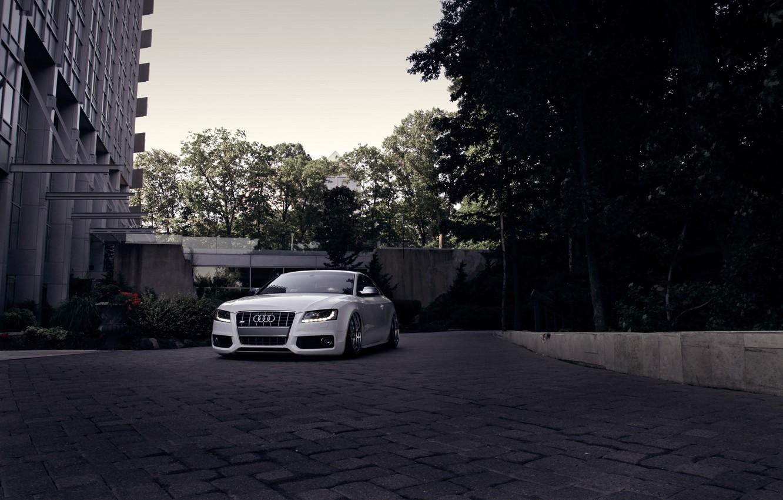 Photo wallpaper Audi, Audi, white, before, white