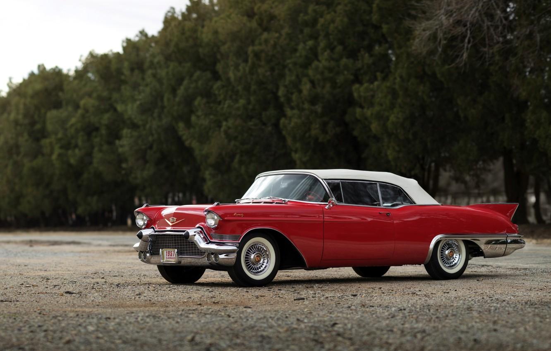Photo wallpaper Eldorado, Cadillac, Cadillac, 1957, Sixty-Two, Eldorado, Special Biarritz