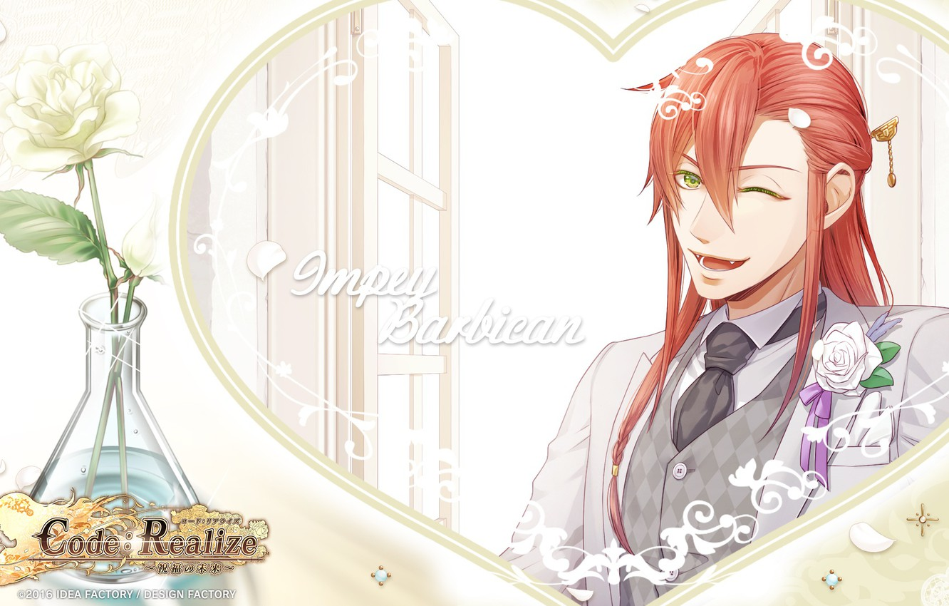 Photo wallpaper background, the game, anime, art, red, guy, Code Realize