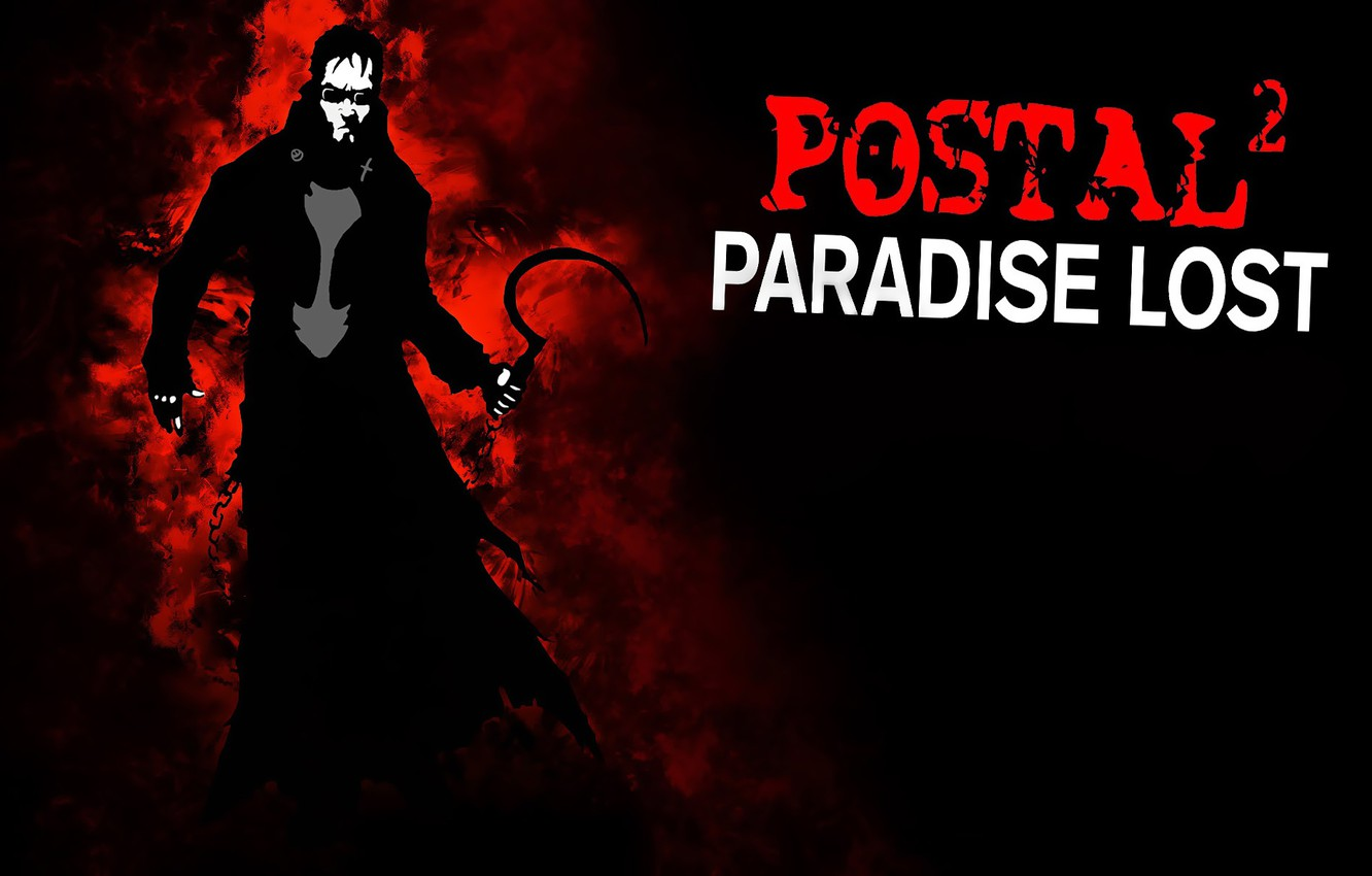 Photo wallpaper background, the darkness, glasses, cloak, hammer, POSTAL 2: Paradise Lost, Dude, Postal 2: Paradise Lost, …