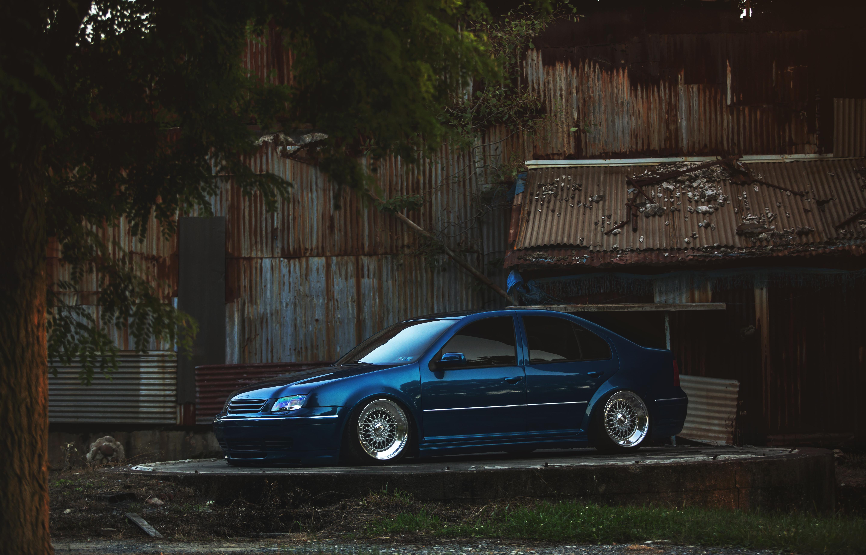 Manual Resize Of Wallpaper Blue Tuning Volkswagen Blue Volkswagen Jetta Mk4 Jetta