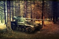 Picture WoT, France, France, pine, Wargaming.net, World of Tanks, tanks, Bat Chatillon 25 t, tank, forest