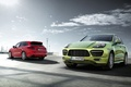 Picture jeep, the sun, green, red, Porsche Cayenne