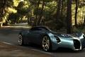 Picture road, Aerolithe, Concept 2025, Bugatti, forest