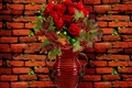 Picture flowers, background, wall, roses, Still life, cover