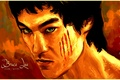 Picture beautiful Wallpaper, look, Bruce Lee, bright, widescreen, face, art, dragon, bruce lee, eyes