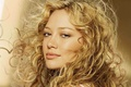 Picture look, hair, actress, blonde, lips, white background, Hilary Duff, curls