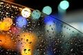 Picture machine, glass, water, drops, lights, rain, bokeh