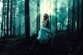 Picture lighting, girl, the whispering woods, dress, in the woods
