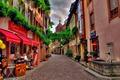 Picture bridge, Switzerland, street, shops