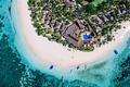 Picture summer, beach, sea, ocean, island, hotel, paradise, boats, sunny, coconuts