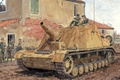 "Picture road, weapons, figure, soldiers, installation, self-propelled artillery, German, The second world voinea, Sturmpanzer IV ""brummbar"", ..."