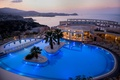 Picture sea, palm trees, the evening, Greece, hotel Athina, pool