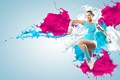 Picture abstract, girl, sexy, splash, women, fitness, gym, aerobic