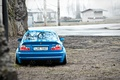 Picture BMW, rear, blue, tuning, E46