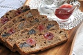 Picture bread, jam, dried fruits