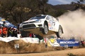 Picture Auto, White, Sport, Volkswagen, Machine, Speed, Race, Red Bull, WRC, Rally, In the air, Polo