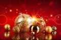 Picture decoration, Christmas, New Year, 2016, gold, New year, balls, decoration, Shine