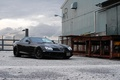 Picture SLR McLaren, front view, the building, SLR McLaren, ramp, black, black, Mercedes Benz, lantern, Mercedes ...