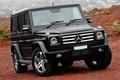 Picture Beautiful, Black, AMG, The front, Compressor, Г55, Mercredes Benz, Rain, Wallpaper, AMG, Mercedes, Car, Car, ...