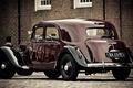 Picture retro, car, pavers