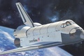 Picture space, Space Shuttle Orbiter, art, aviation, painting