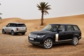Picture jeep, palm trees, Land Rover, rear view, Land Rover, Range Rover, desert, sand, black, the ...