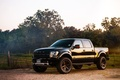 Picture forest, black, Ford, SUV, black, Ford, Raptor, pickup, off road, front, Raptor, F-150, SVT