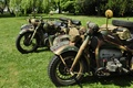 Picture war, world, Second, times, motorcycles, military