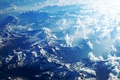 Picture tops, Alps, snow, mountains, clouds