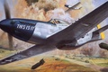 Picture roy cross, art, mustang, fighter, p-51, figure, aviation, the plane