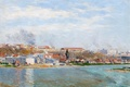 Picture landscape, the city, river, home, picture, Spain, Aureliano de Beruete and Moret, Manzanares in Madrid