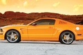 Picture Mustang GT, Ford, The sky, Mustang, Road, Orange, Ford