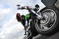 Picture girl, Moto, motorcycle, honda