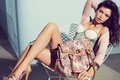 Picture Sandrah Hellberg, girl, photoshoot, Guess, model, accessoriess