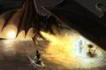 Picture weapons, wings, art, fire-breathing, dragon, sword, shield, fiction, warriors, fire
