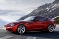 Picture red, Coupe, mountains, Zagato, BMW, Zagato, coupe, the front, the sky, BMW