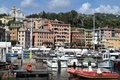 Picture Italy, mountains, Church, home, yachts, Santa Margherita Ligure, boats, harbour