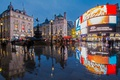 Picture Piccadilly circus, London, England, reflection, SOHO, fountain Shaftesbury