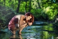 Picture water, reflection, girl, for, nature, stream