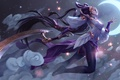 Picture weapons, art, Michal Ivan, the moon, night, girl, clouds, Diana, League of Legends