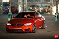 Picture F82.tuning, red, Coupe, BMW, wheels, power, germany, turbo, angel eyes, vossen