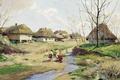 Picture (1854-1917), Spring day in Ukraine, Sergei VASILKOVSKY, oil, Tree