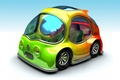 Picture Chrysler, BMW, hippie, machine, Concept_Car, icon hippie, a riot of colors