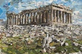 Picture Vik Muniz, Postcards from Nowhere, contemporary art, Parthenon